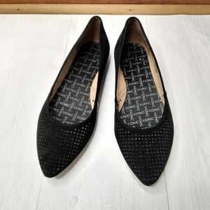 Vionic Posey suede flats shoes black size 8